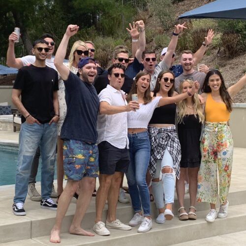 Team Evolve celebrating